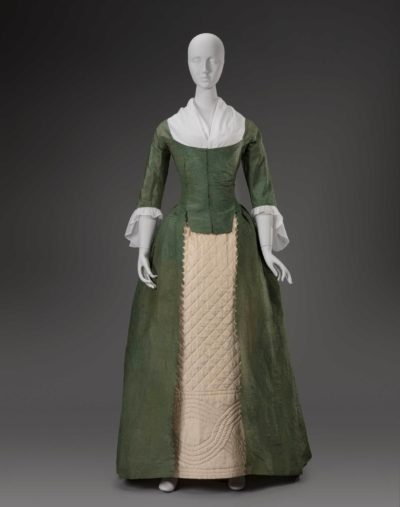Artists in Europe. Robe à l'anglaise (English-style dress), about 1785