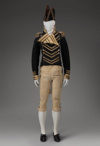 Artists in the United States. Military uniform, about 1812