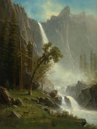 Albert Bierstadt, American, 1830–1902, Bridal Veil Falls, Yosemite, ca. 1871–73