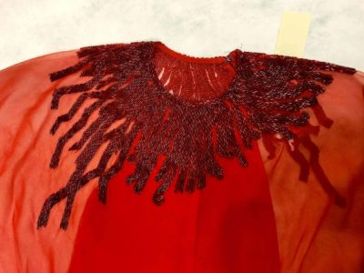 Halston evening dress detail