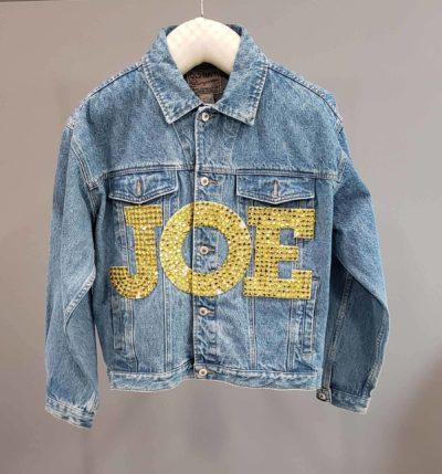 Joe boxer denim jacket on hanger