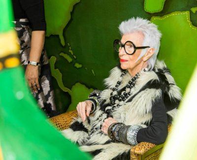 Iris Apfel at Bergdorf Goodman
