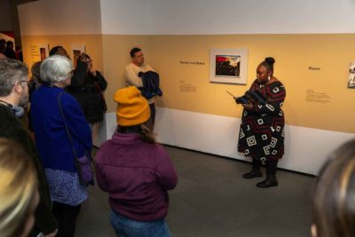 The listening tour during the opening weekend of Jacob Lawrence: The American Struggle