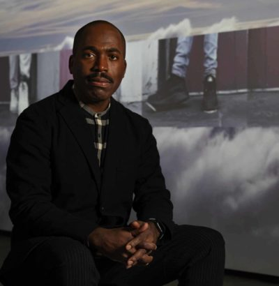 Contemporary artist Derrick Adams. Photo by Kathy Tarantola/PEM.