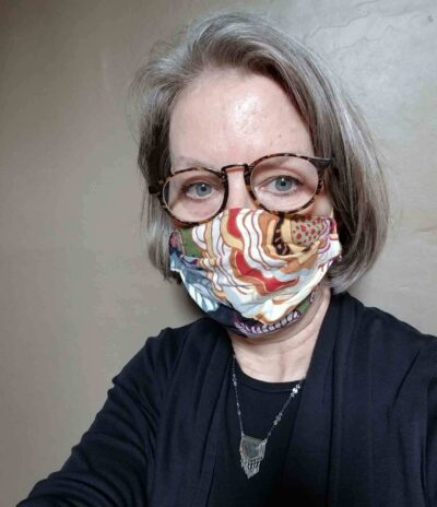 Paula Richter, PEM Curator for Exhibitions and Research., wearing a mask.