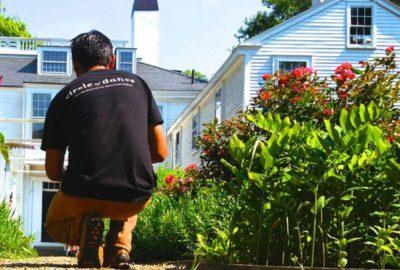 Dominic Henry surveying one of PEM's historic houses. Courtesy photo