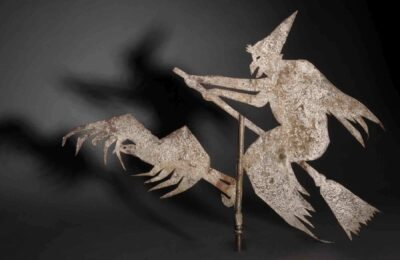 Artist in the United States, witch weathervane, about 1900. Iron and paint. Museum purchase, 1985. 136517. © Peabody Essex Museum. Photo by Kathy Tarantola/PEM.