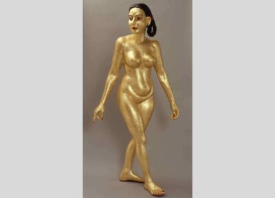 G. Ravinder Reddy, Woman '95, 1995. Fiberglass and gilding. Gift of the Chester and Davida Herwitz Collection, 1999. E300456. Peabody Essex Museum.