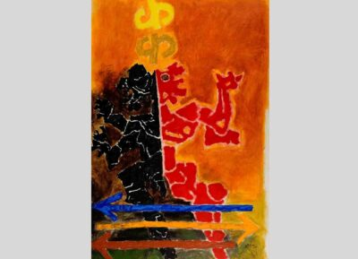 Maqbool Fida Husain, Kauravas (Mahabharata 17), 1971. Oil on canvas. Gift of the Chester and Davida Herwitz Collection, 2001. E301285. Peabody Essex Museum. Photo by Barbara Kennedy/PEM.
