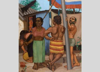 Sudhir Patwardhan, Ceremony, 1984. Oil on canvas. Gift of the Chester and Davida Herwitz Collection, 2003. E301191. Peabody Essex Museum.