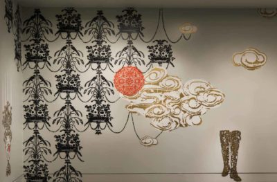 Detail from artist Vanessa Platacis installation, Taking Place.