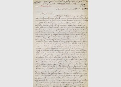 Letter from George Washington to Henry Knox, December 26, 1786, The Gilder Lehrman Collection, The Gilder Lehrman Institute of American History, New York