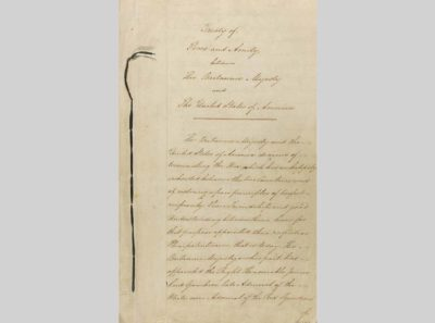 Treaty of Ghent, 1814, International Treaties and Related Records, 1778-1974, General Records of the United States Government, Record Group 11, National Archives