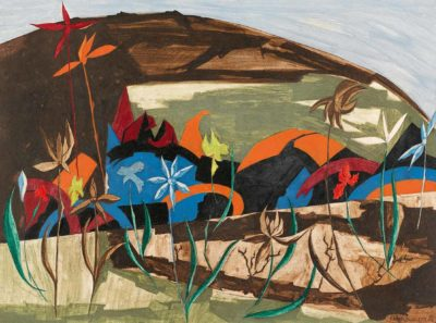Panel 26, 1956, Collection of Bill and Holly Marklyn. © The Jacob and Gwendolyn Knight  Lawrence Foundation, Seattle/Artists Rights Society (ARS), New York. Photo by Seattle Art Museum