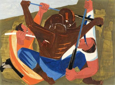 Panel 27, 1956, private collection. © The Jacob and Gwendolyn Knight Lawrence Foundation, Seattle/Artists Rights Society (ARS), New York. Photo by Seattle Art Museum
