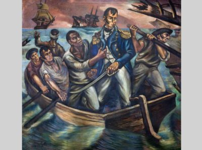 Martyl Schweig Langsdorf, Courageous Act of Cyrus Tiffany in Battle of Lake Erie, September 10, 1813, 1943, Recorder of Deeds Building, Washington DC