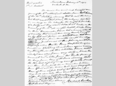 Letter from Andrew Jackson to Robert Hays, February 17, 1815, Andrew Jackson Papers, 1775-1874, Manuscript/Mixed Material, Library of Congress