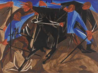Panel 4, 1954, private collection. © The Jacob and Gwendolyn Knight Lawrence Foundation, Seattle/Artists Rights Society (ARS), New York. Photo by Seattle Art Museum