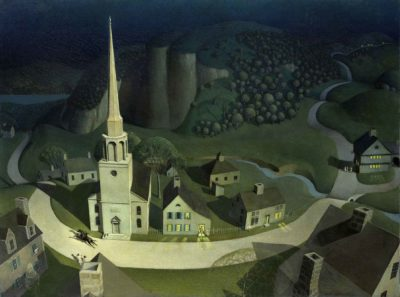 Grant Wood, The Midnight Ride of Paul Revere, 1931, The Metropolitan Museum of Art, Arhut Hoppock Hearn Fund, 1950, 50.117. © Estate of Grant Wood. Courtesy of Art Resource, NY