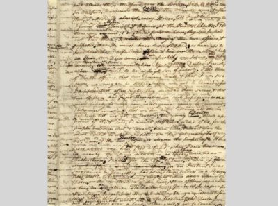 Letter from Paul Revere to Jeremy Belknap, about 1798, Massachusetts Historical Society