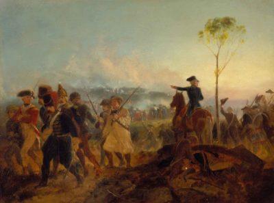 Alonzo Chappel, The Battle of Bennington, August 16, 1777, 1854–58, Bennington Museum, Bennington, Vermont, gift of Mr. and Mrs. A. H. Keyes, A28
