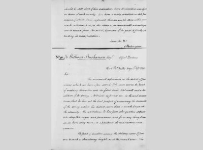 Letter from George Washington to William Buchanan, February 7, 1778, George Washington Papers, Series 4, Library of Congress, Washington, DC