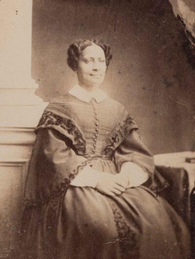 Photographer in the United States. Sarah Parker Remond, about 1865. Albumen print, reproduction. Gift of Miss Cecelia R. Babcock. Phillips Library, Salem Streets Collection. PH322. Courtesy Peabody Essex Museum. Photography by Kathy Tarantola.