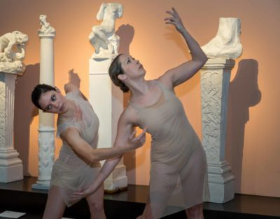The BoSoma Dance Company dancers in the exhibition.