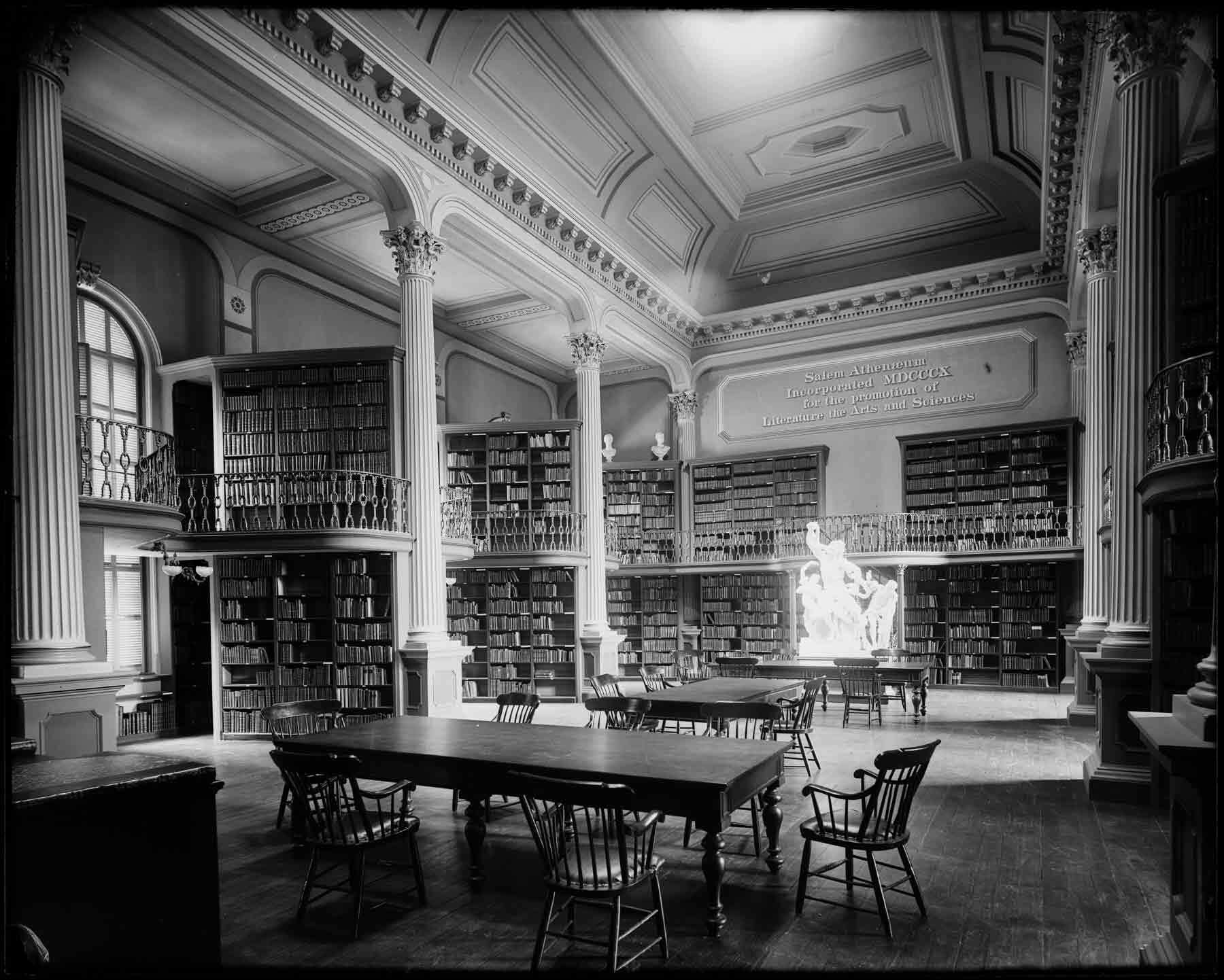 An old photograph of The Reading Room in Plummer Hall