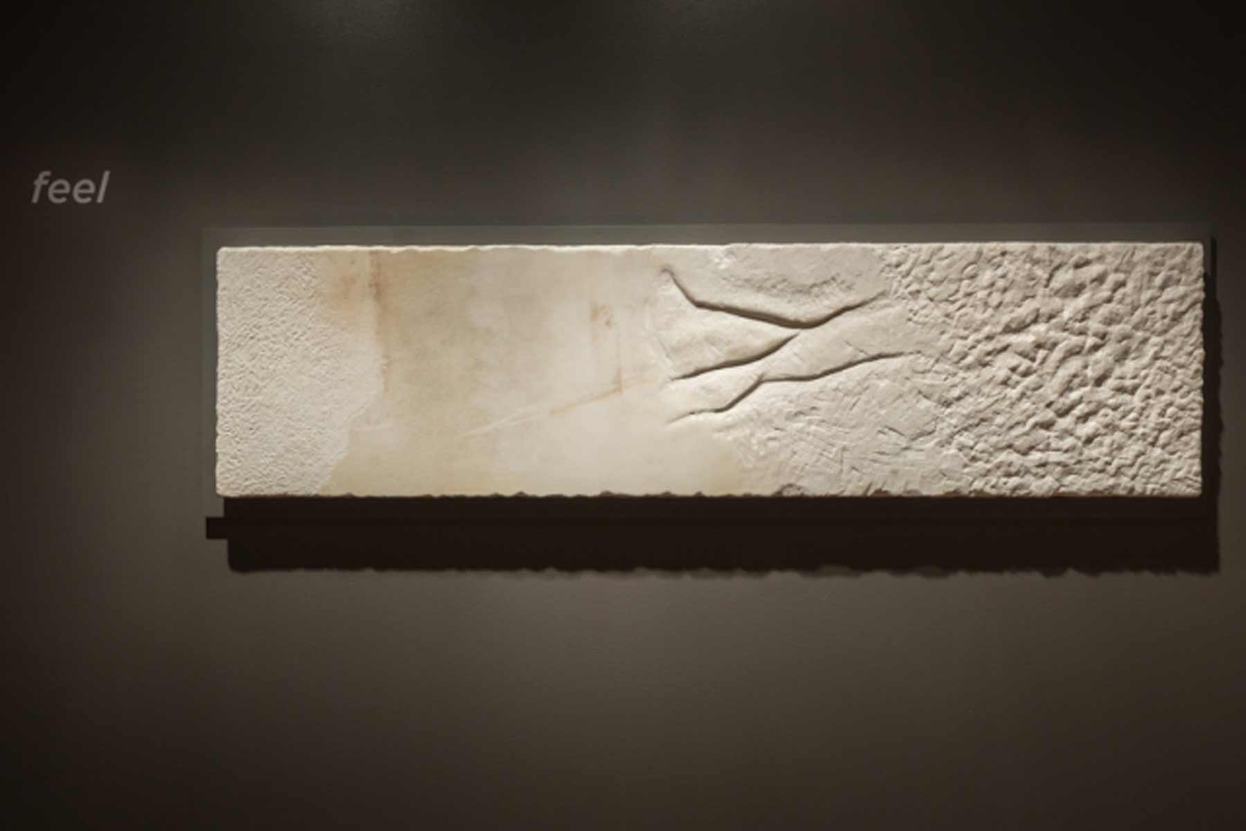 Marble slab in PEM's exhibition 'Rodin: Transforming Sculpture.'
