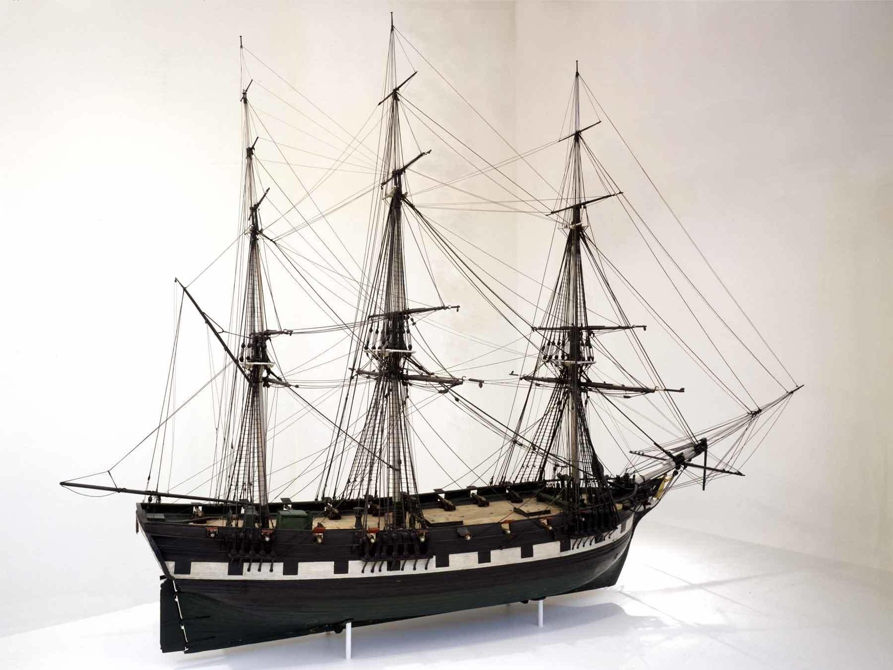 Mr. Odell (American); Thomas Russell (American), Full-hull model, ca. 1804