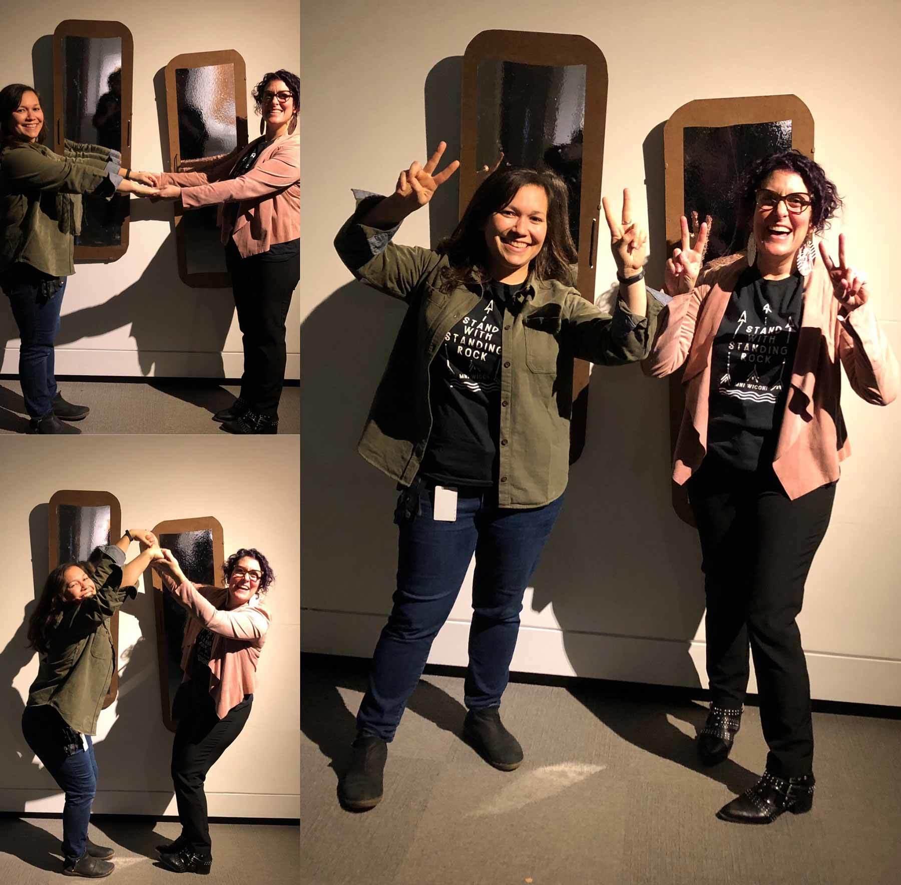 PEM curator Karen Kramer and registrar Rachel Miller in H2O formation