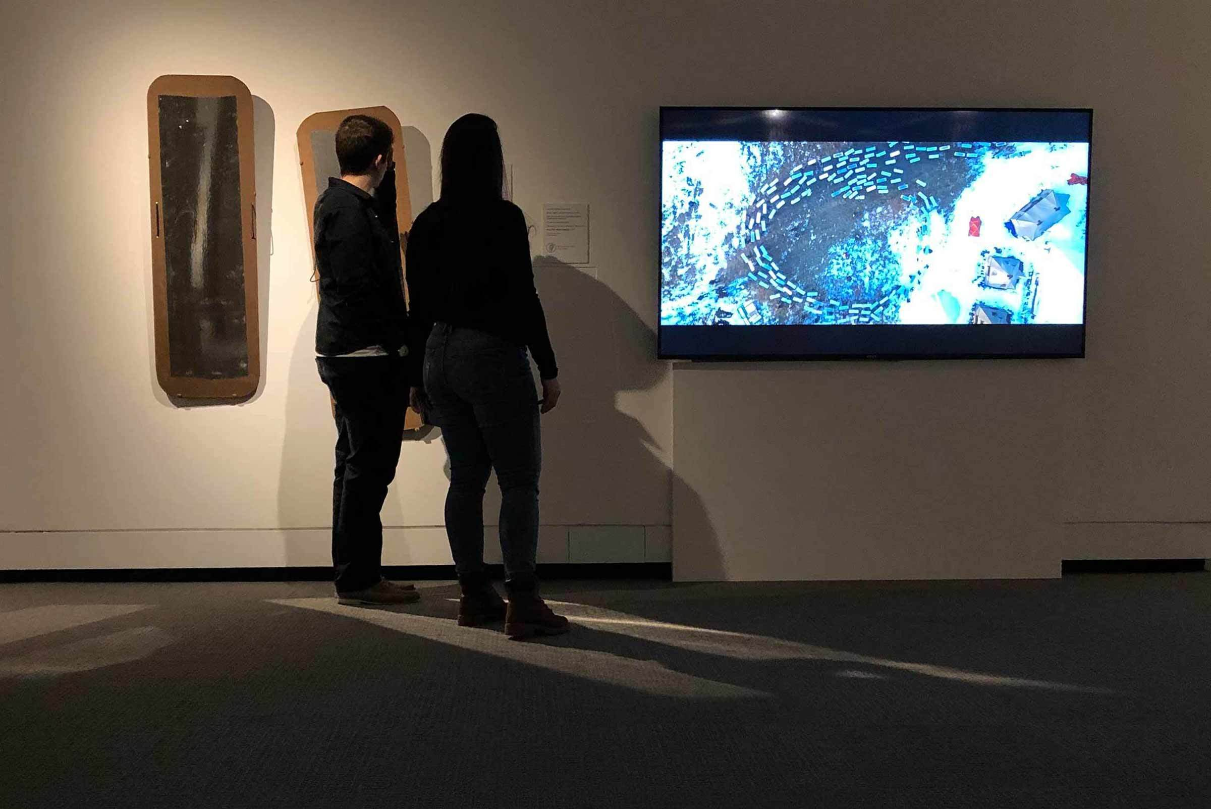View of installation in Nature's Nation: American Art and Environment