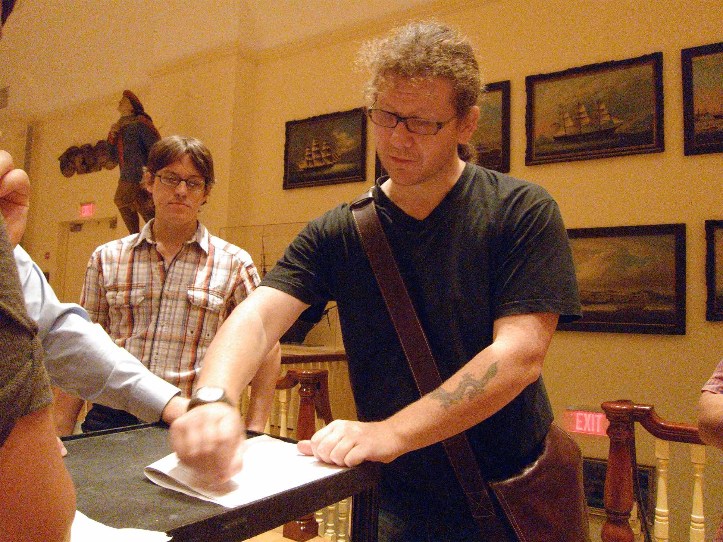 Chip Van Dyke and Charles Sandison in 2010