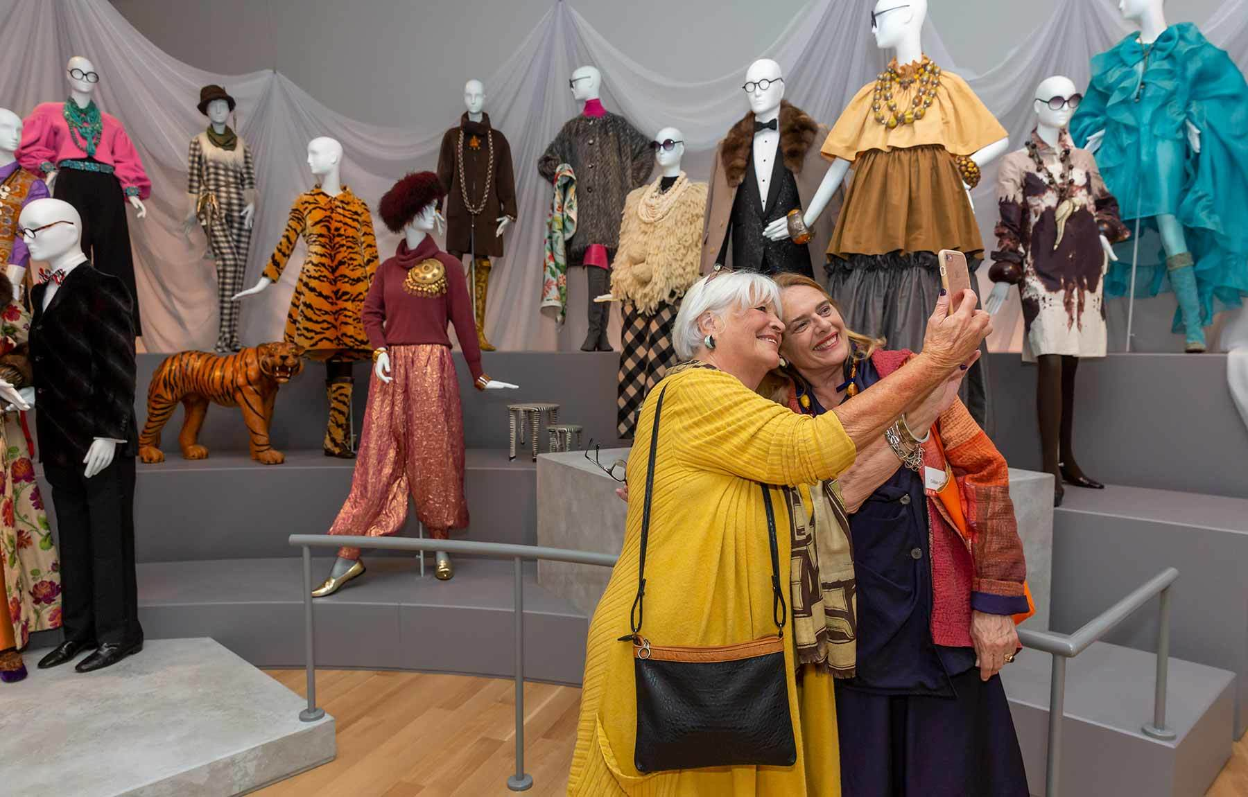 visitors in fashion and design gallery