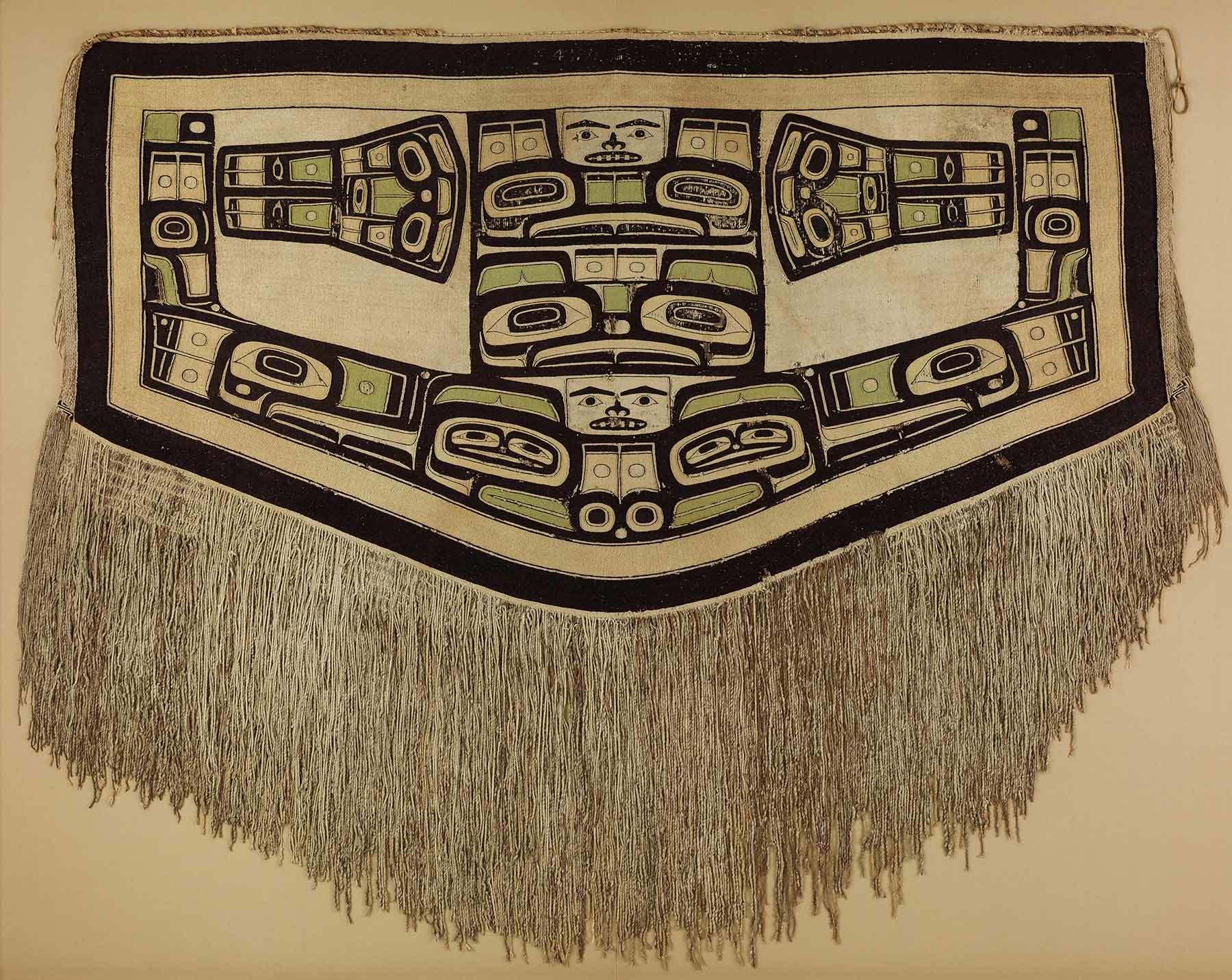 Tlingit artist, Chilkat blanket (detail), before 1832