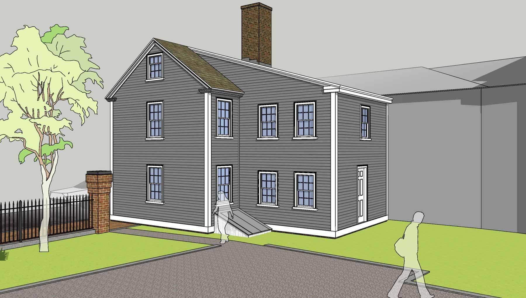 drawing bray house
