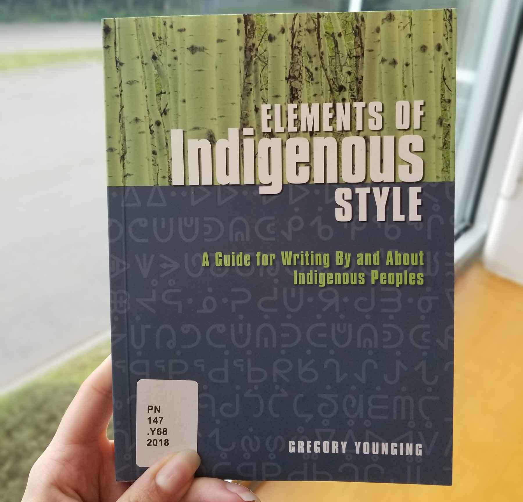 Elements of Indigenous Style book