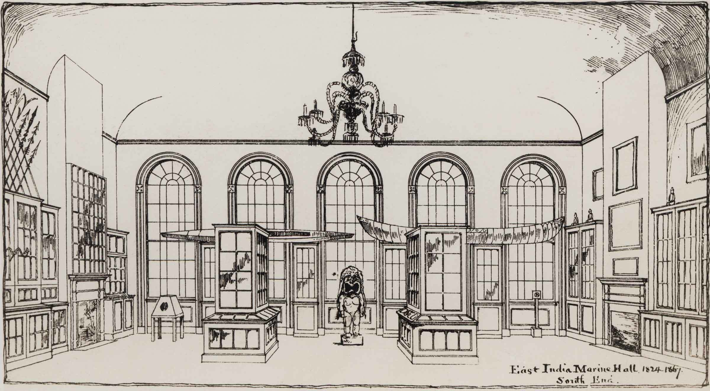 East India Marine Hall as it was arranged prior to 1867