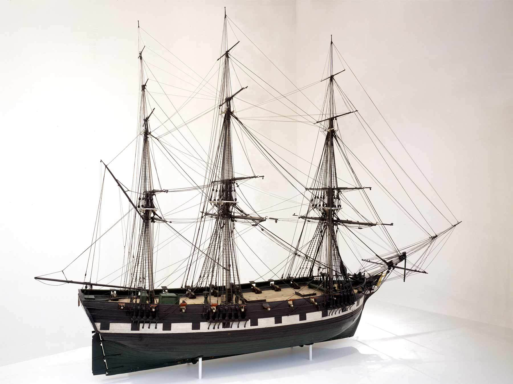 United States Model of the 1797 ship Friendship, about 1804