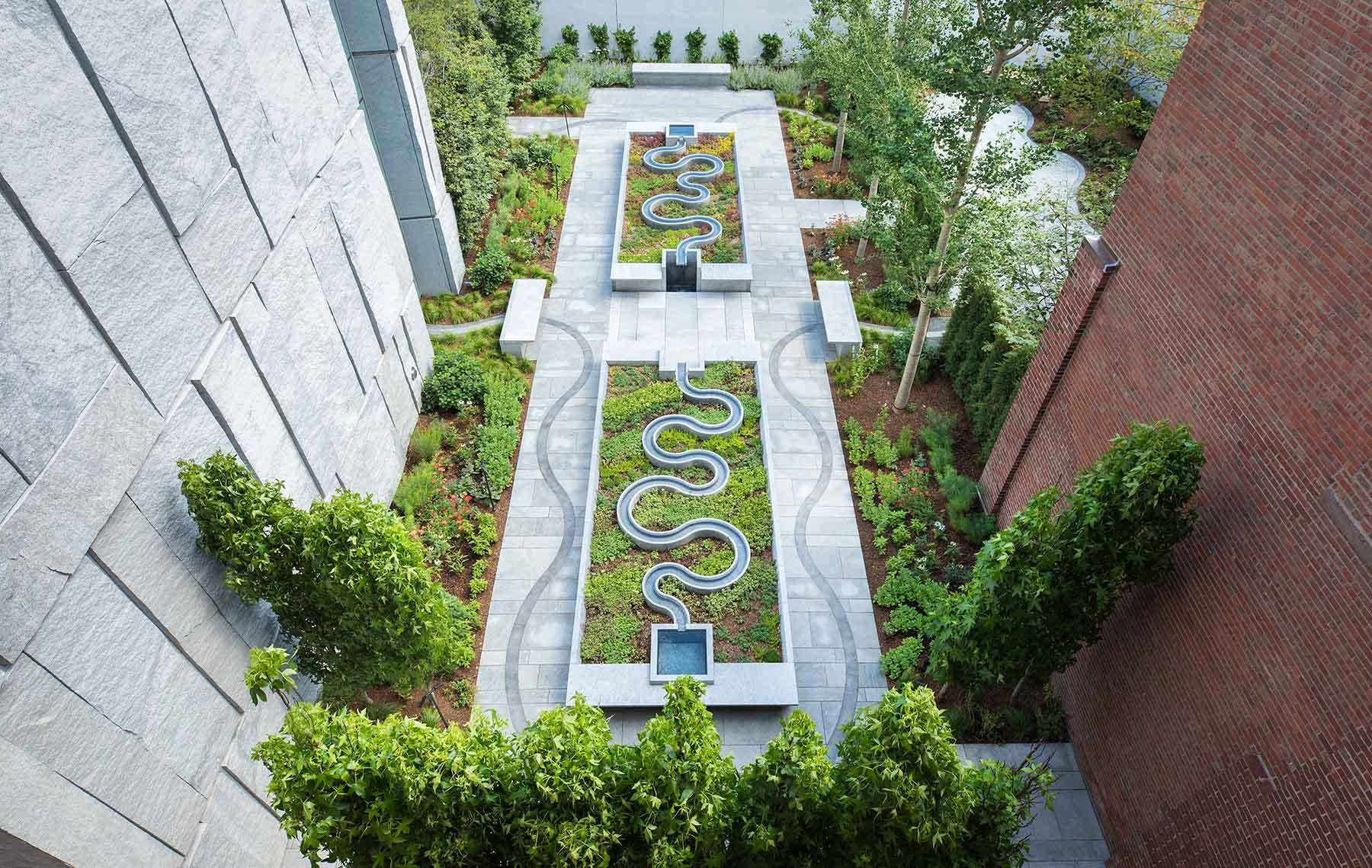 A bird's eye view of the new garden