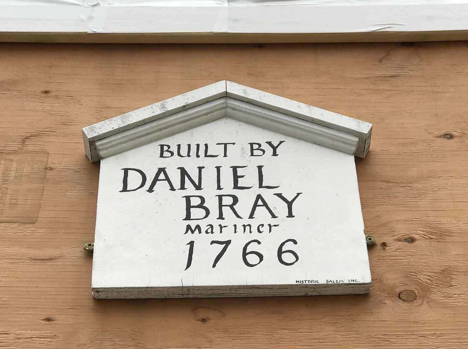 Daniel Bray House sign