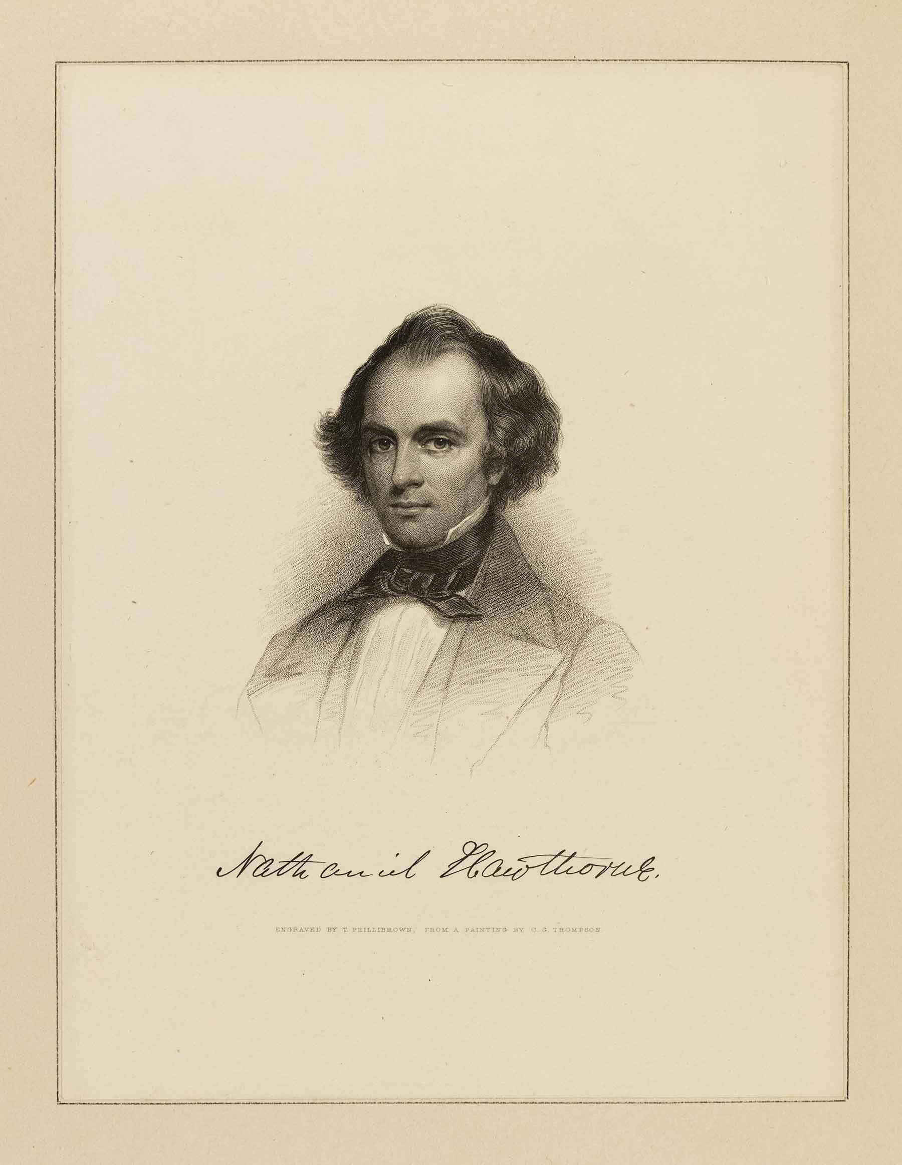 Portrait of Nathaniel Hawthorne (bound with Buds and Bird Voices)