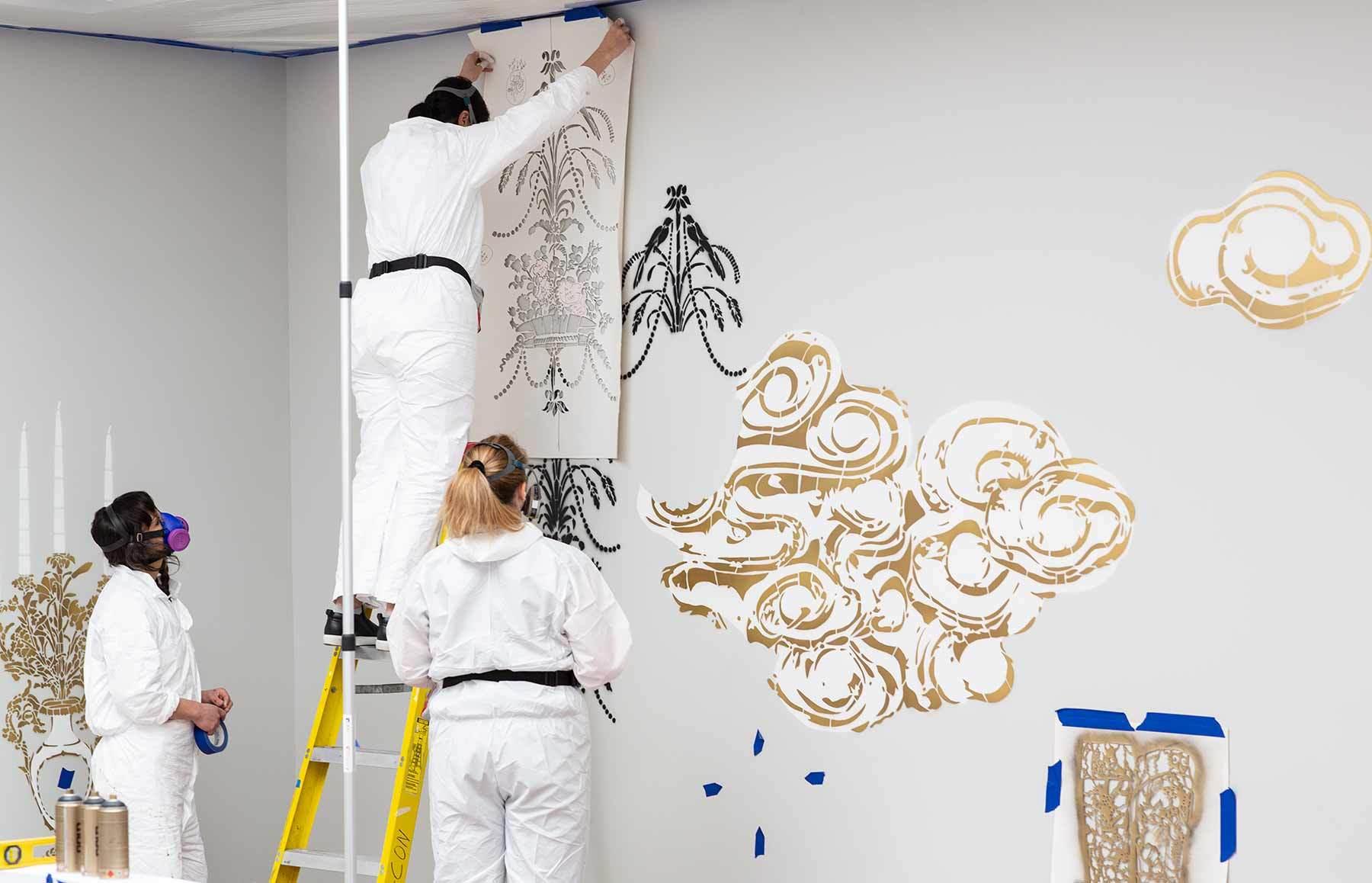 Vanessa Platacis installs Taking Place