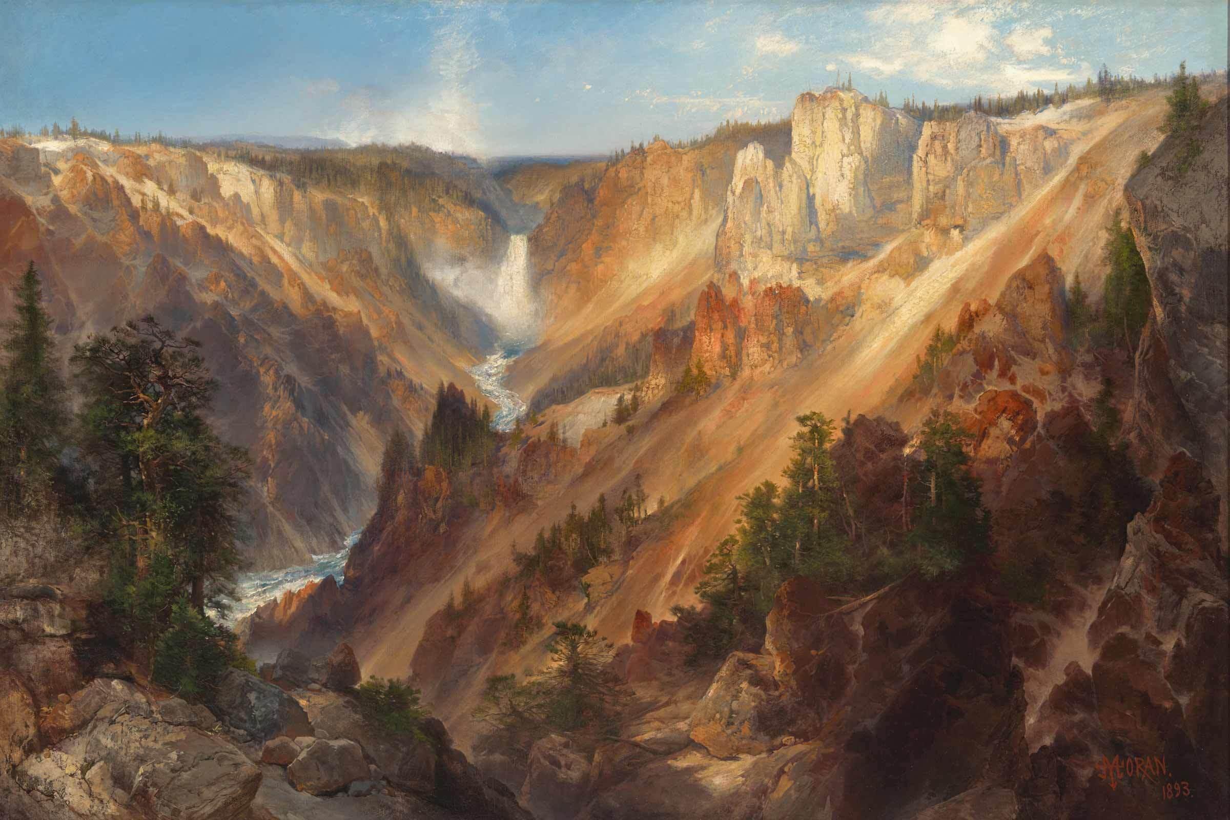 Lower Falls, Yellowstone Park, 1893