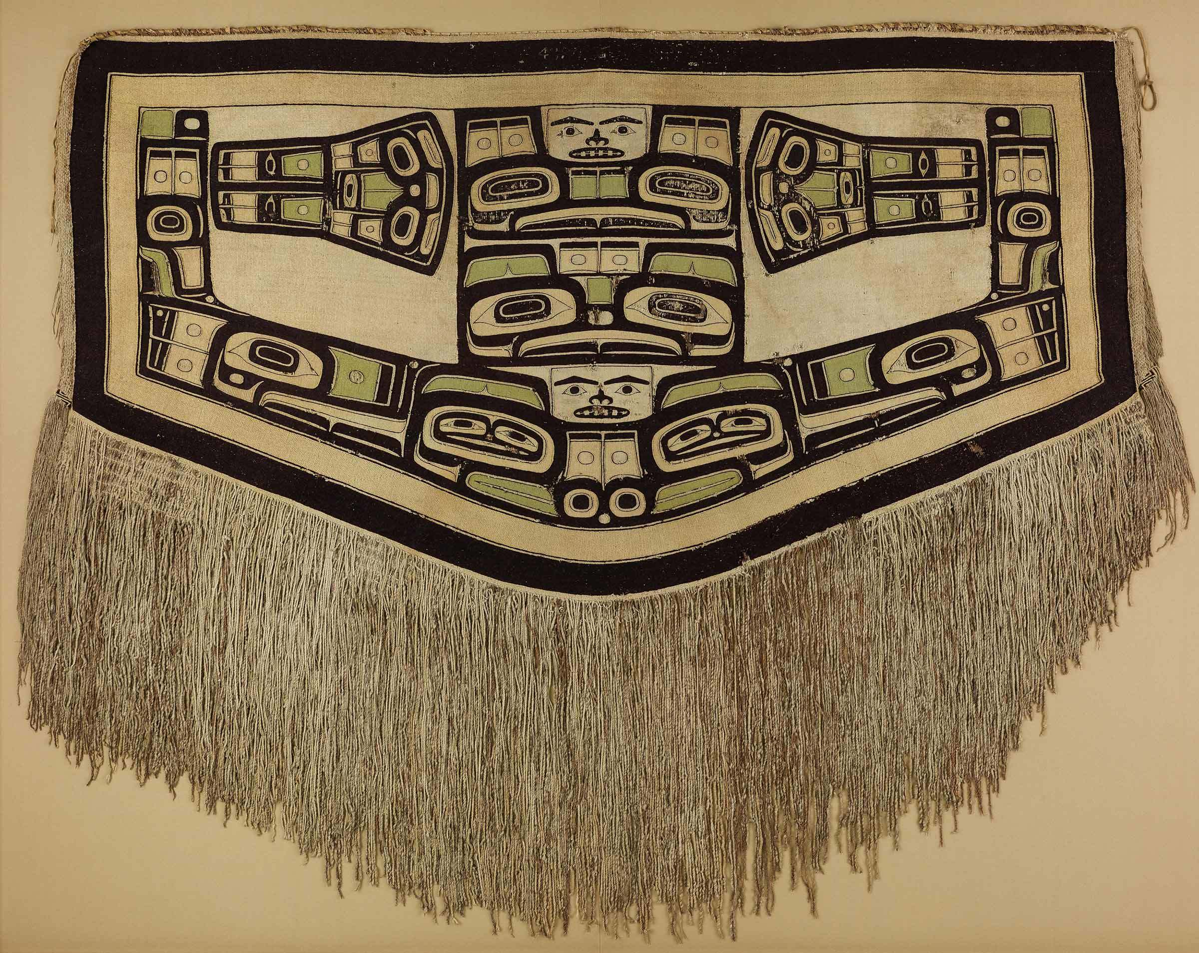 Tlingit artist, Chilkat blanket, before 1832