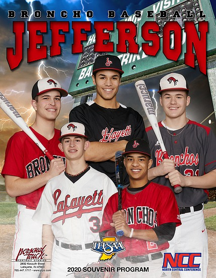 Jefferson Bronchos 2019-2020 Baseball Program Cover