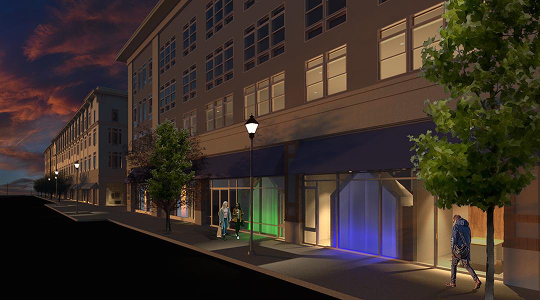 Merchant lane street view dusk final