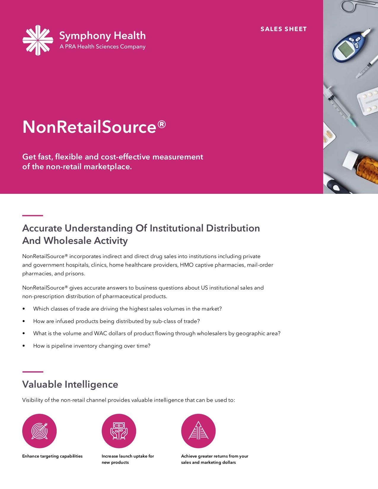 NonRetailSource® Sales Sheet