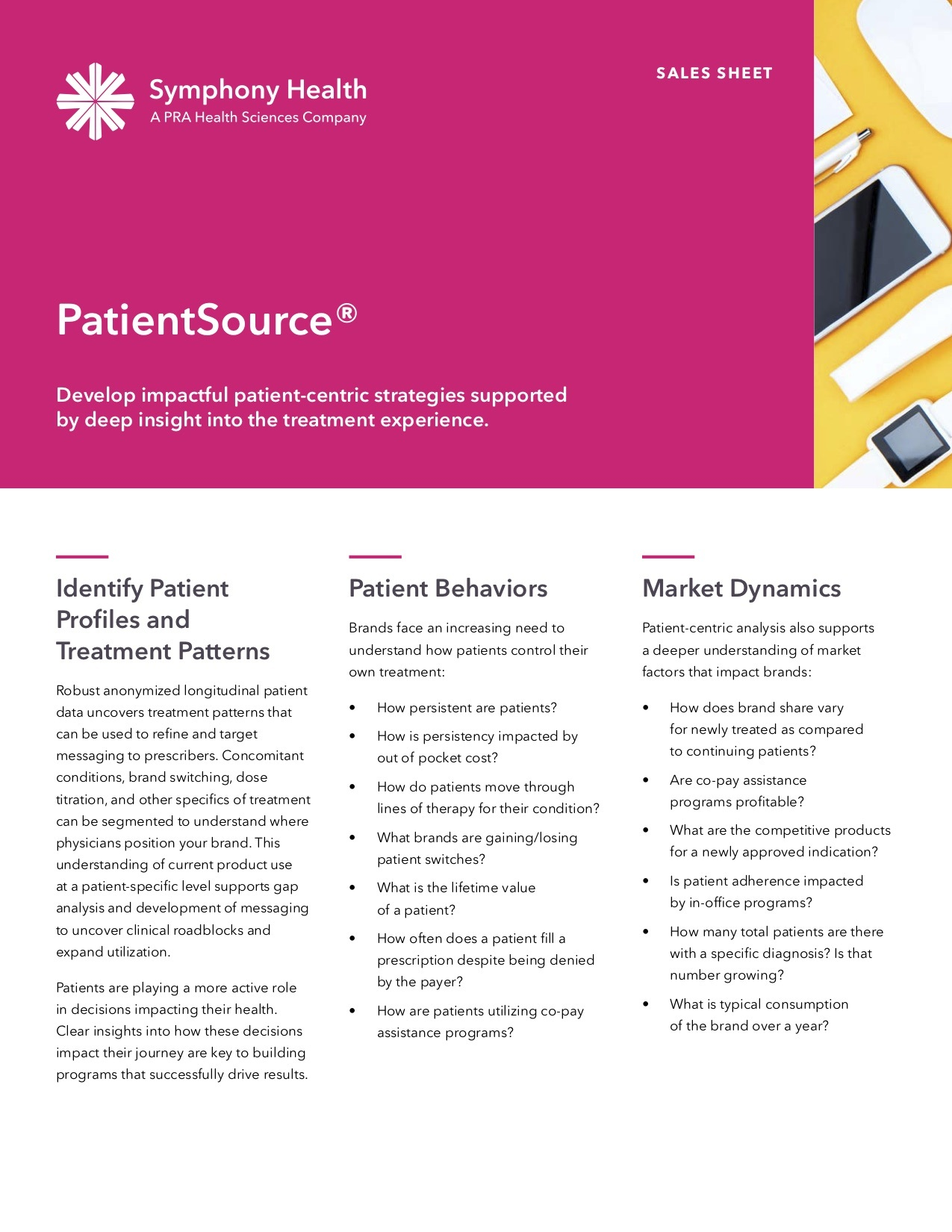 PatientSource® Sales Sheet